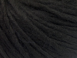 Fiber Content 50% Acrylic, 50% Wool, Brand ICE, Black, Yarn Thickness 4 Medium  Worsted, Afghan, Aran, fnt2-62363