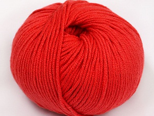 Fiber Content 50% Cotton, 50% Acrylic, Tomato Red, Brand ICE, fnt2-62398