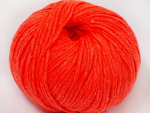 Fiber Content 50% Cotton, 50% Acrylic, Neon Orange, Brand ICE, fnt2-62399