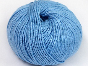 Fiber Content 50% Cotton, 50% Acrylic, Light Blue, Brand ICE, fnt2-62424
