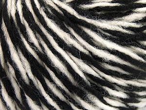 Fiber Content 60% Wool, 40% Acrylic, White, Brand ICE, Black, fnt2-62529