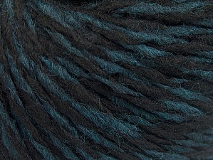 Fiber Content 60% Wool, 40% Acrylic, Turquoise, Brand ICE, Black, fnt2-62530