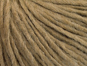 Fiberinnehåll 50% Akryl, 50% Ull, Light Brown, Brand ICE, Yarn Thickness 4 Medium  Worsted, Afghan, Aran, fnt2-62557