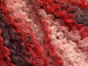 Fiber Content 40% Acrylic, 40% Wool, 20% Polyamide, Red, Pink, Maroon, Brand ICE, fnt2-62637