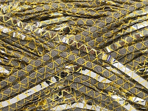 Fiber Content 40% Cotton, 35% Metallic Lurex, 25% Acrylic, Yellow, Silver, Light Khaki, Brand ICE, fnt2-62649