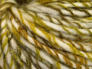 Fiber Content 50% Acrylic, 50% Wool, White, Brand ICE, Green Shades, fnt2-62698
