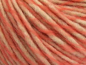 Fiber Content 55% Acrylic, 45% Wool, Salmon, Brand ICE, Beige, fnt2-62724