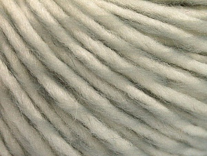 Fiber Content 55% Acrylic, 45% Wool, White, Light Grey, Brand ICE, fnt2-62727