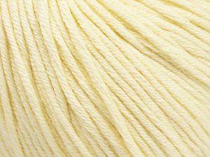 Fiber Content 50% Acrylic, 50% Cotton, Brand Ice Yarns, Cream, Yarn Thickness 3 Light DK, Light, Worsted, fnt2-62731