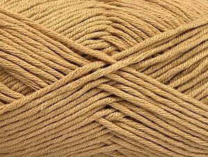 Fiber Content 50% Cotton, 50% Acrylic, Light Brown, Brand Ice Yarns, Yarn Thickness 3 Light DK, Light, Worsted, fnt2-62732