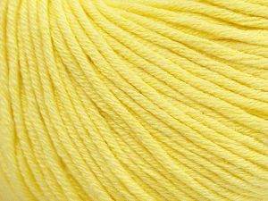 Fiber Content 50% Cotton, 50% Acrylic, Light Yellow, Brand ICE, fnt2-62734