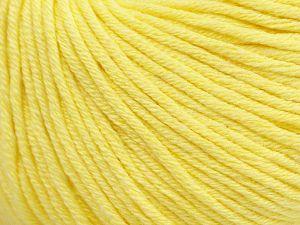 Fiber Content 50% Cotton, 50% Acrylic, Light Yellow, Brand Ice Yarns, Yarn Thickness 3 Light DK, Light, Worsted, fnt2-62734