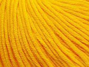 Fiber Content 50% Cotton, 50% Acrylic, Yellow, Brand Ice Yarns, Yarn Thickness 3 Light DK, Light, Worsted, fnt2-62735