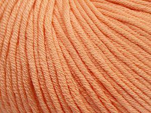 Fiber Content 50% Cotton, 50% Acrylic, Light Salmon, Brand Ice Yarns, Yarn Thickness 3 Light DK, Light, Worsted, fnt2-62736