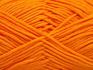 Fiber Content 50% Cotton, 50% Acrylic, Orange, Brand Ice Yarns, Yarn Thickness 3 Light DK, Light, Worsted, fnt2-62737