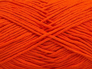 Fiber Content 50% Cotton, 50% Acrylic, Brand ICE, Dark Orange, fnt2-62738
