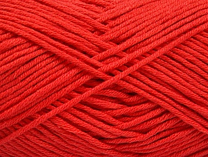 Fiber Content 50% Cotton, 50% Acrylic, Tomato Red, Brand Ice Yarns, Yarn Thickness 3 Light DK, Light, Worsted, fnt2-62740