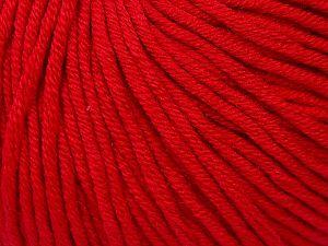 Fiber Content 50% Cotton, 50% Acrylic, Brand Ice Yarns, Dark Red, Yarn Thickness 3 Light DK, Light, Worsted, fnt2-62741