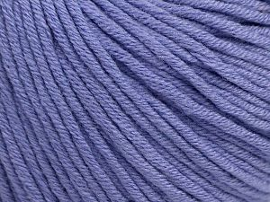 Fiber Content 50% Cotton, 50% Acrylic, Lilac, Brand ICE, fnt2-62744
