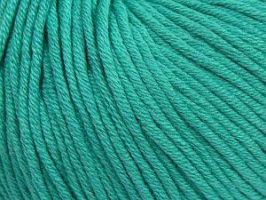 Fiber Content 50% Cotton, 50% Acrylic, Brand Ice Yarns, Emerald Green, Yarn Thickness 3 Light DK, Light, Worsted, fnt2-62749