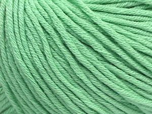 Fiber Content 50% Cotton, 50% Acrylic, Mint Green, Brand Ice Yarns, Yarn Thickness 3 Light DK, Light, Worsted, fnt2-62750
