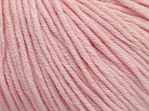 Fiber Content 50% Cotton, 50% Acrylic, Brand Ice Yarns, Baby Pink, Yarn Thickness 3 Light DK, Light, Worsted, fnt2-62753