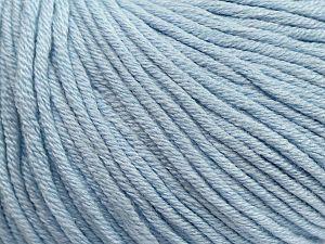 Περιεχόμενο ίνας 50% Ακρυλικό, 50% Βαμβάκι, Light Blue, Brand ICE, Yarn Thickness 3 Light  DK, Light, Worsted, fnt2-62754