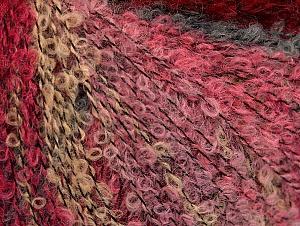 Fiber Content 39% Acrylic, 25% Polyamide, 18% Viscose, 18% Wool, Red, Pink Shades, Light Camel, Brand ICE, Grey, fnt2-62786