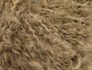 Contenido de fibra 45% Acrílico, 25% Lana, 20% Mohair, 10% Poliamida, Light Brown, Brand ICE, fnt2-62852