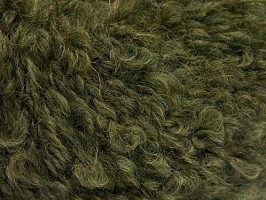 Fiber Content 45% Acrylic, 25% Wool, 20% Mohair, 10% Polyamide, Khaki, Brand ICE, fnt2-62856