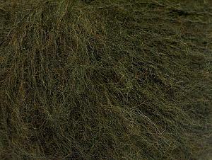 Fiber Content 34% Acrylic, 26% Wool, 24% Polyamide, 16% Viscose, Brand ICE, Dark Green, fnt2-62879