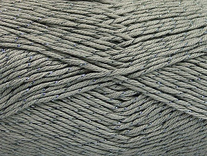 Fiber Content 49% Cotton, 49% Premium Acrylic, 2% Metallic Lurex, Brand ICE, Grey, fnt2-62886