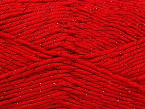 Fiber Content 49% Cotton, 49% Premium Acrylic, 2% Metallic Lurex, Red, Brand ICE, fnt2-62891