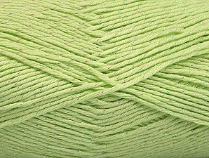 Fiber Content 49% Premium Acrylic, 49% Cotton, 2% Metallic Lurex, Light Green, Brand ICE, fnt2-62893