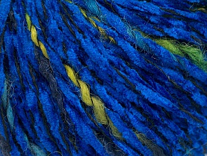 Fiber Content 85% Acrylic, 15% Wool, Brand ICE, Green Shades, Blue, Black, fnt2-62972