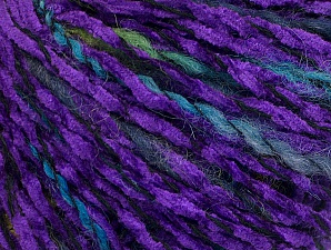 Fiber Content 85% Acrylic, 15% Wool, Lavender, Brand ICE, Green Shades, Black, fnt2-62973