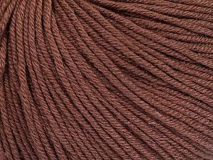 Fiber Content 60% Cotton, 40% Acrylic, Brand ICE, Brown, fnt2-62999