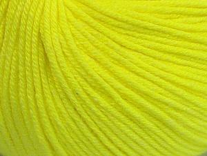 Fiber Content 60% Cotton, 40% Acrylic, Neon Yellow, Brand ICE, fnt2-63004