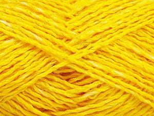 Fiber Content 43% Acrylic, 31% Viscose, 13% Polyamide, 13% Linen, Yellow, Brand ICE, fnt2-63055