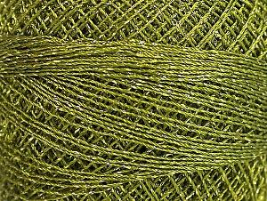 Fiber Content 70% Polyester, 30% Metallic Lurex, Brand YarnArt, Green, Yarn Thickness 0 Lace Fingering Crochet Thread, fnt2-63078