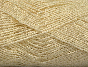 Fiber Content 100% Acrylic, Brand ICE, Cream, Yarn Thickness 1 SuperFine  Sock, Fingering, Baby, fnt2-63091