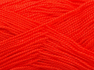 Fiberinnehåll 100% Akryl, Neon Orange, Brand ICE, Yarn Thickness 1 SuperFine  Sock, Fingering, Baby, fnt2-63092
