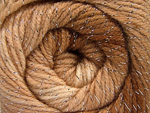Fiberinnehåll 95% Akryl, 5% Lurex, Brand ICE, Cream, Brown Shades, Yarn Thickness 3 Light  DK, Light, Worsted, fnt2-63095
