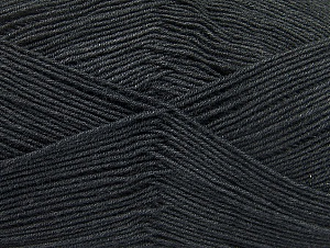 Fiberinnehåll 55% Bomull, 45% Akryl, Brand ICE, Anthracite Black, Yarn Thickness 1 SuperFine  Sock, Fingering, Baby, fnt2-63107