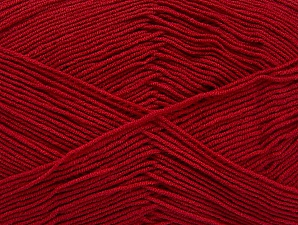 Fiberinnehåll 55% Bomull, 45% Akryl, Brand ICE, Dark Red, Yarn Thickness 1 SuperFine  Sock, Fingering, Baby, fnt2-63111