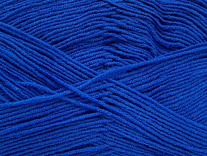 Fiber Content 55% Cotton, 45% Acrylic, Brand ICE, Blue, Yarn Thickness 1 SuperFine  Sock, Fingering, Baby, fnt2-63115