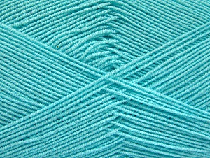 Fiber Content 55% Cotton, 45% Acrylic, Light Turquoise, Brand ICE, Yarn Thickness 1 SuperFine  Sock, Fingering, Baby, fnt2-63116