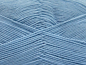 Fiberinnehåll 55% Bomull, 45% Akryl, Brand ICE, Baby Blue, Yarn Thickness 1 SuperFine  Sock, Fingering, Baby, fnt2-63117