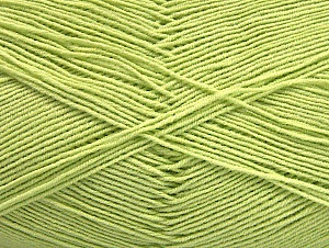 Fiberinnehåll 55% Bomull, 45% Akryl, Light Green, Brand ICE, Yarn Thickness 1 SuperFine  Sock, Fingering, Baby, fnt2-63118