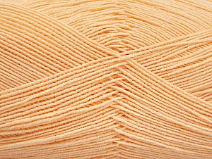 Fiber Content 55% Cotton, 45% Acrylic, Light Orange, Brand ICE, Yarn Thickness 1 SuperFine  Sock, Fingering, Baby, fnt2-63120